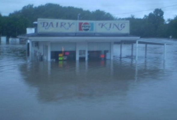 Dairy King flood of 2010 (Source Facebook)