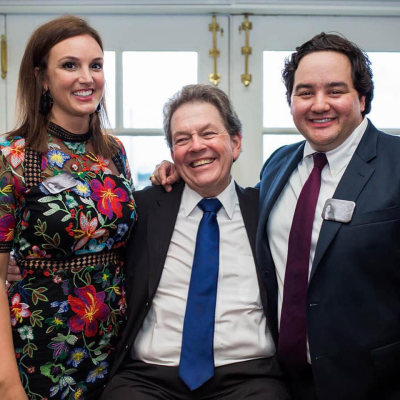 Randi Butler with Arthur Laffer, PhD. Official White House Photo (Source Facebook)