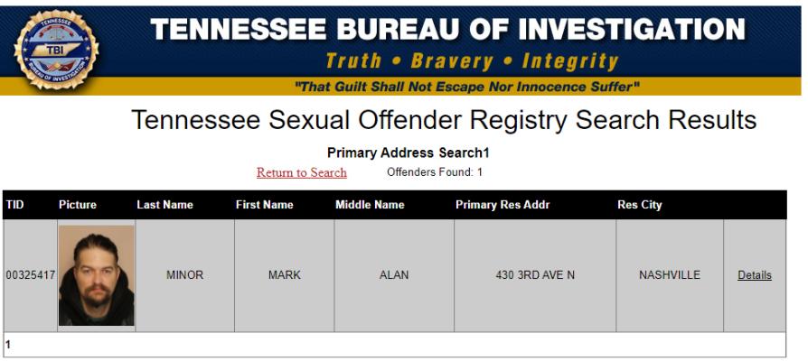 Mark Minor Sex Offender Registration (Source TBI)