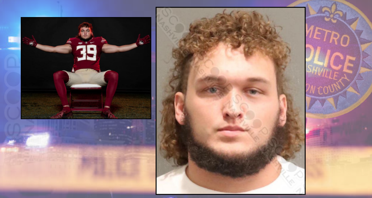 College Football's Josh 'Big Country' Griffis charged after forcing way into woman's home in Nashville